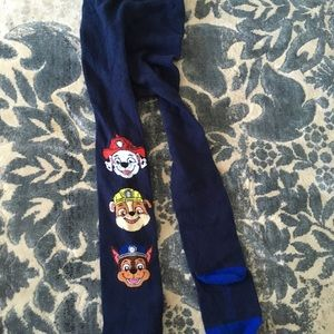 Bnwot paw patrol footed tights